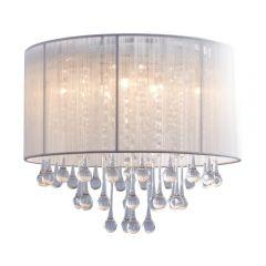 Verona Lampa plafon Ø40 cm z abażurem czarny/chrom Zuma Line RLX92174-8A