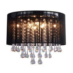 Verona Lampa plafon Ø40 cm z abażurem czarny/chrom Zuma Line RLX92174-8B