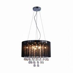 Verona Lampa wisząca Ø40 cm z abażurem czarna/chrom Zuma Line RLD92174-8B