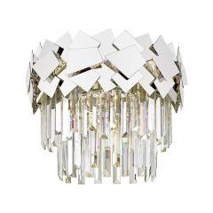 Quasar Lampa plafon kryształowy 5 płom. chrom Zuma Line C0506-05A-B5AC