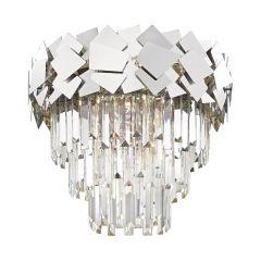 Quasar Lampa plafon kryształowy 6 płom. chrom Zuma Line C0506-06A-B5AC