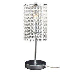 Bright Lampa stołowa kryształowa 1 płom. chrom Light Prestige LP-812/1T