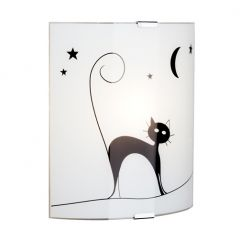 Cat kinkiet lampa ścienna biała czarna  Brilliant 05910/75