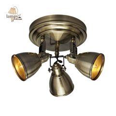 Lampa plafon 3 płomienny FJALLBACKA patyna Markslojd 104050