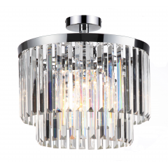 Vetro Lampa plafon kryształowy 4 płom. chrom Light Prestige LP-2910/4C