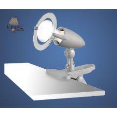 Lampa kinkiet pojedynczy na klips  LYDIA EGLO - srebrny 85155