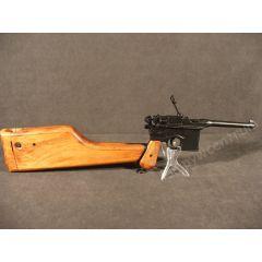 Słynny pistolet Mauser C96 z dołączoną kolbą - kaburą - replika 1025