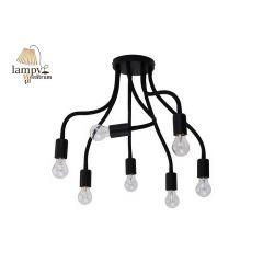 Lampa plafon 7 płomienny FLEX czarny Nowodvorski 9273