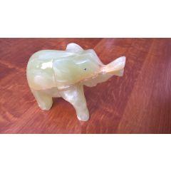 Słoń z onyksu pakistańskiego mały FE02 MG