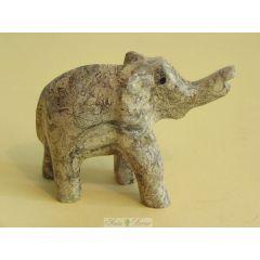 Słoń z pakistańskiego jaspisu koralowego duży FE04 SS
