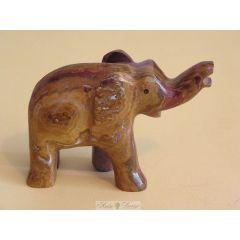 Słoń z czerwonego onyksu pakistańskiego duży FE04 RM