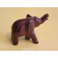 Słoń z czerwonego onyksu pakistańskiego mały FE03 RM