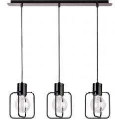 Lampa żyrandol 3 płomienny AURA KWADRAT czarny Sigma 31112