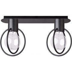 Lampa plafon 2 płomienny AURA KOŁO czarny Sigma 31092