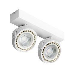 Lampa plafon 2 płomienny LED JERRY 2 230V biały Azzardo AZ1371