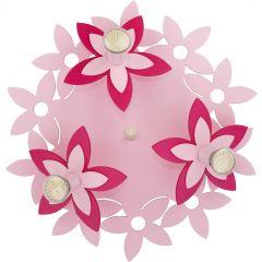 Lampa plafon 3 płomienny FLOWERS PINK III Nowodvorski 6895