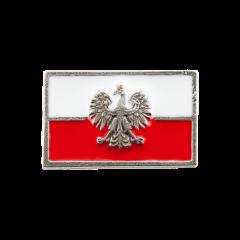 Przypinka miniatura polskiej flagi orłem współczesnym - PINS