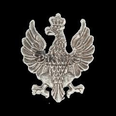 Przypinka z orłem z zamkniętą koroną - polskim herbem według wzoru z 1919 r. - PINS