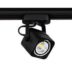 Lampa reflektor SLS KJ8061-A square 1xG5,3 MR16 Black 230V Sinus