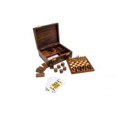 Zestaw gier kości domino karty szachy Gift Shop G186