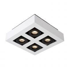 Lampa oprawa natynkowa 4 płomienna CASEMIRO WH Italux IT8001S4-WH/BK