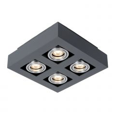Lampa oprawa natynkowa 4 płomienna CASEMIRO BK Italux IT8002S4-BK/AL