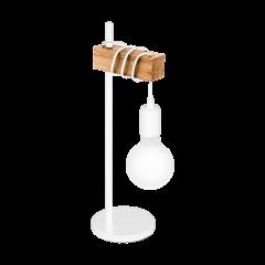 Lampa stołowa TOWNSHEND biała VINTAGE EGLO 33163
