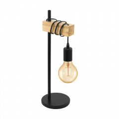 Lampa stołowa TOWNSHEND czarna VINTAGE EGLO 32918