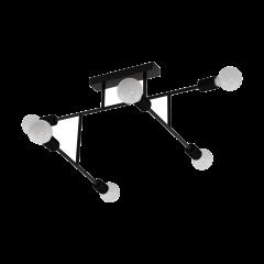 Lampa plafon 6 płomienny BELSIANA czarny EGLO 98034