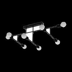 Lampa plafon 8 płomienny BELSIANA czarny EGLO 98035