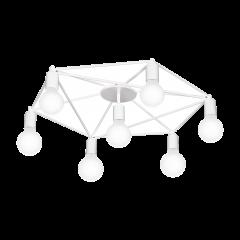 Lampa plafon 7 płomienny STAITI biały EGLO 97896