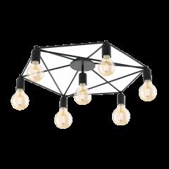 Lampa plafon 7 płomienny STAITI czarny EGLO 97904