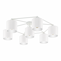 Lampa plafon 7 płomienny STAITI biały abażur EGLO 97903