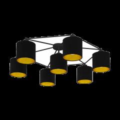 Lampa plafon 7 płomienny STAITI czarny abażur EGLO 97895