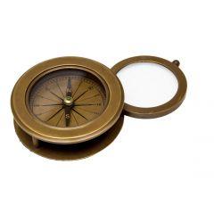 Szkło powiększające i kompas mosiężny Gift Shop NI4482