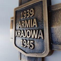 Krzyż Armii Krajowej mosiądz