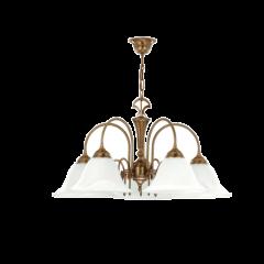 Capri lampa wisząca 5 płomienna Kutek CAP-ZW-5(P)