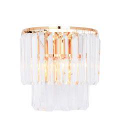 Amedeo Lampa kinkiet kryształowy złoty Zuma Line 17106/2W-GLD