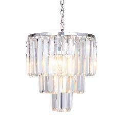 Amedeo Lampa wisząca kryształowa 4 płom. chrom Zuma Line 17106/3+1-CHR