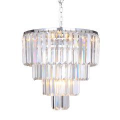 Amedeo Lampa wisząca kryształowa 5 płom. chrom Zuma Line 17106/4+1-CHR