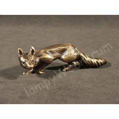 Skradający się lis, figurka Mosiądz MAR019