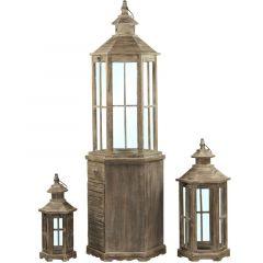 Lampion Drewniany Kpl. 3/S (Iicz) 76639