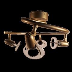 Lampa spirala 4 płomienna Venus regulowana złota Nowodvorski