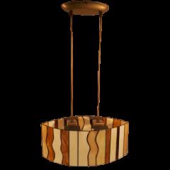 Lampa witrażowa 2 płomienna Łódka Icaro