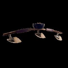 Lampa belka 3 płomienna drewno chrom 3x20W 12V Impexim