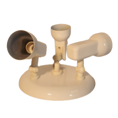 Lampa plafon 3 płomienny biały regulowany Pima