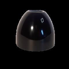 Klosz metalowy czarny połysk stożek E27