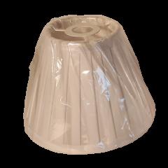 Abażur stożek biały plisowany E14