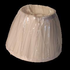 Abażur stożek biały plisowany E27