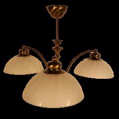 Lampa żyrandol 3 płomienny ROVATO klosze białe Astra